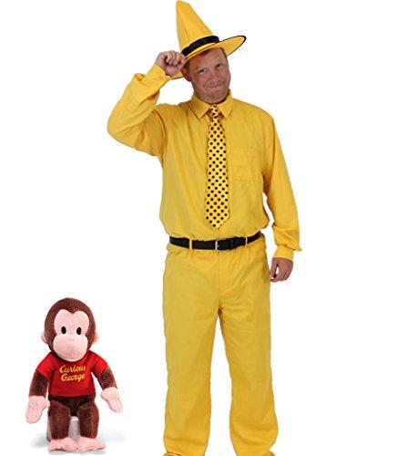 n The gelb Hut Kostüm Set (Erwachsener Large) (George Halloween-outfits)