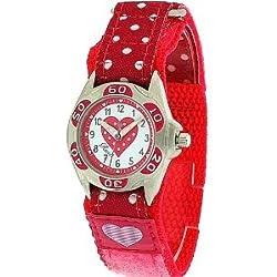 Ravel Girls Polka Dot Nylon Strap Watch
