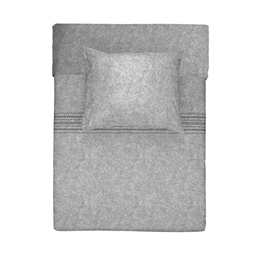 Walra Flanell Bettwäsche 2 teilig Bettbezug 140 x 220 cm Kopfkissenbezug 60 x 70 cm Pure Craft Grau 1207742