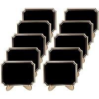 ROSENICE 10pcs Mini Pizarras con Soporte para Signos de Tablero de Mensajes