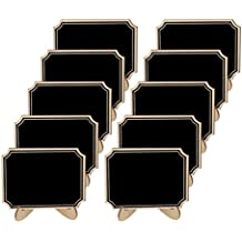 SUPVOX 10pcs Mini Chalkboard Stand Wooden Place Card Name Blackboard Table Number Price
