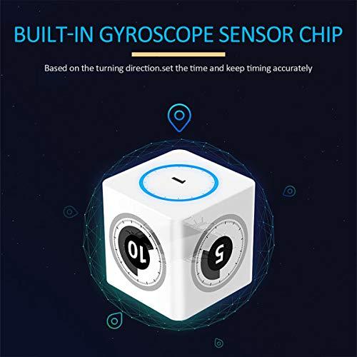 iLEPO Smart Kitchen Timer mit Gyroskop-Sensor-Chip für Kinder, Küche, Kochen, Hausaufgaben, Meetings, Grillen, Nickerchen -