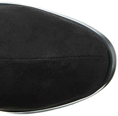 Buffalo B109a-157 S0002a Imi Suede, Bottes Hautes femme Noir - Noir (01)
