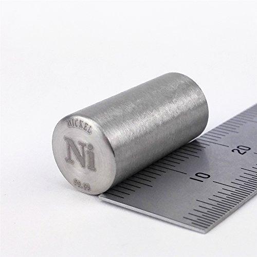 Pure Nickel Metall Rod 99,95{3fff1d1077d660d99931aaa6e50673e0004c651ccc66b2b2ce503e1ce76bc61e} 14Gramm 10diameterx20mm Länge Element Ni SPECIMEN