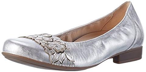 Gabor Shoes Comfort, Ballerines Femme, Argent (Silber 61), 37