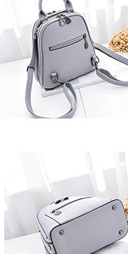 Tendenzdamen PU-Schulterbeutel / weibliche koreanische Version des Rucksacks / Art und Weise wilder Freizeitbeutel / Handtaschen Multifunktions ( Farbe : Pink ) Rot