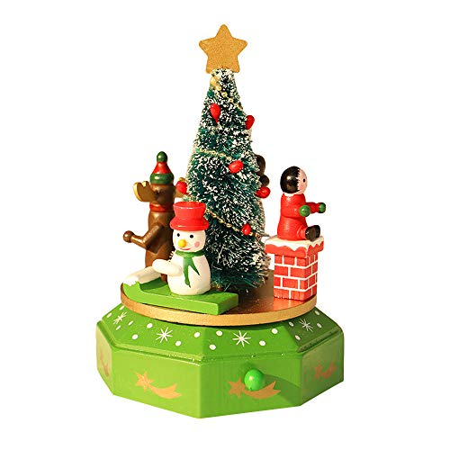 Mitlfuny Weihnachten DIY Home Decor 2019,Holz Spieluhr Weihnachtsdekoration Weihnachten Kinder Spielzeug Kinder Geschenk