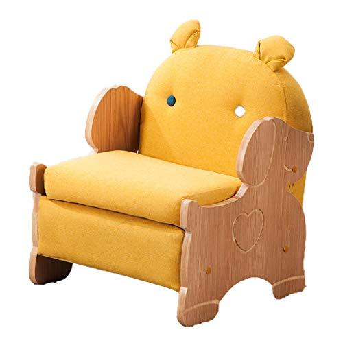 Canapés Canapé Pour Enfant Petit Accoudoir Garçon Simple Petit Canapé Adapté Pour Intérieur Vert Paresseux Chaise Siège Arrière (Color : Yellow, Size : 17.7 * 16.9 * 21.6in)