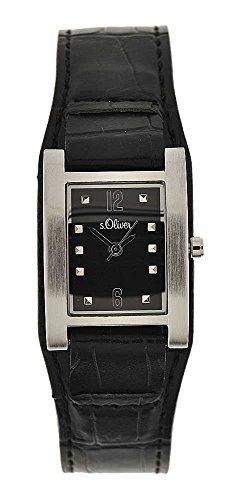 s.Oliver Damen-Armbanduhr Analog Quarz Leder SO-15033-LQR