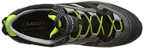AKU Ego Gtx, Chaussures de randonnée mixte adulte Noir - Schwarz (BLACK/GREEN)
