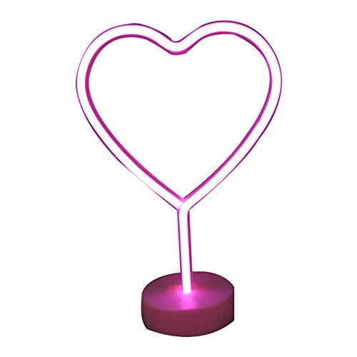 Rocita la sala a un Décor colore Neon Amore Cuore segni luci notturne luci con piedistallo USB batterie di lampade da comodino e decorazione per interni quadro delle Insegne al neon