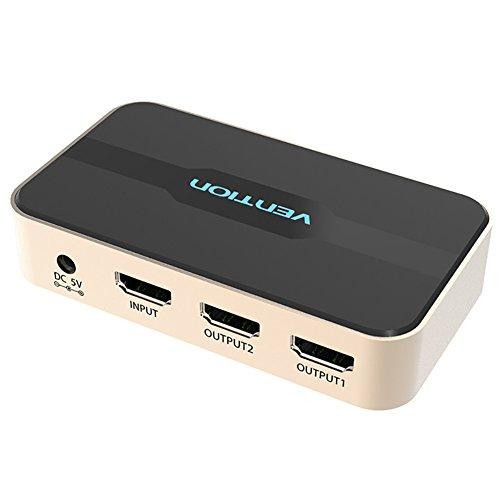 vention 1× 2HDMI Splitter 4Kx2K 3D Splitter HDMI Switch Adapter 1in 2out Verstärker Adapter mit Fernbedienung Box Video Audio Verteiler 1080p für HDTV PC Projektor PS3PS4Xbox DVD usw.