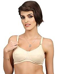 49683ebc29bb5 Groversons Paris Beauty Women Cotton Pratibha Bra (Skin) Pack of 2 pcs. Non