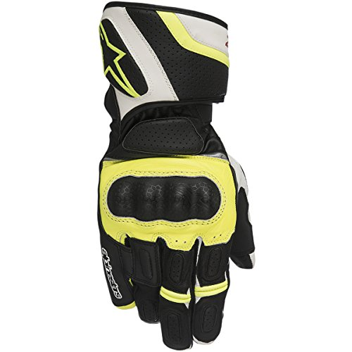 Handschuhe Alpinestars SP Z Drystar Gloves, BLACK WHITE YELLOW FLUO, XL