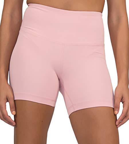 Yogalicious Yoga-Shorts, besonders weich, leicht, hohe Taille - Pink - Klein -
