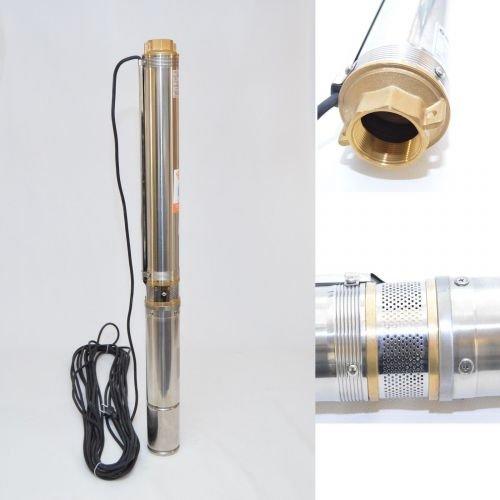 "Tiefbrunnenpumpe Brunnenpumpe 3,5"" 89 mm 6300 l/h 0,8kW 6,3 bar sandresistent"