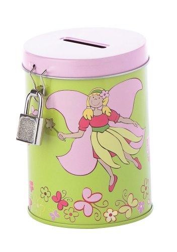 Sigikid 23636 - Hucha con diseño de mariposas, color verde y rosa