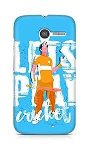 Amez designer printed 3d premium high quality back case cover for Motorola Moto X (Lets Play Cricket)