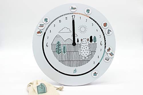 L'horloge Formidable - L'horloge Montessori 24H et ses aimants pour se repérer dans le temps