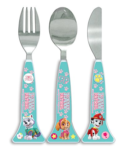 Paw Patrol Girls shaped Cutlery Set