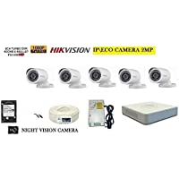 HIKVISION Full HD 2MP Cameras Combo KIT 8CH HD DVR+ 5 Bullet Cameras +1TB Hard DISC+ Wire ROLL +Supply & All Required CONNECTORS