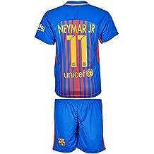 Barcelona 2017/18 Heim # 11 Neymar - Kinder Trikot und Hose