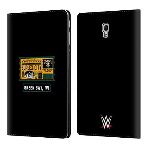 Head Case Designs Offizielle WWE Brock One Way Ticket Green Bay 2018/19 Superstars Leder Brieftaschen Huelle kompatibel mit Samsung Galaxy Tab A 10.5 (2018) (Wwe Tickets)