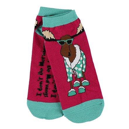 LazyOne Womens I Don't Do Mornings Moose Adult Slipper Socks One Size