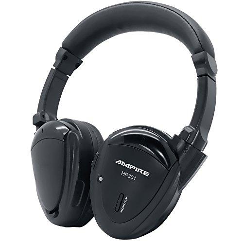 AMPIRE HP301 2-Kanal Infrarot-Kopfhörer, (faltbar, hochwertig verarbeitet, inkl. gefütterter Tasche) - perfekte Ergänzung zu unseren Kopfstützen, Deckenmonitoren & Rear-Seat-Entertainment Rear-seat-dvd-player