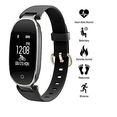 Smart Watch Waterproof Blood Oxygen Pressure Fatigue Heart Rate Sleep Monitor from elecfan