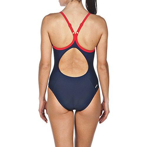 arena Damen Sport Variety Badeanzug Navy/Red/Pix Blue