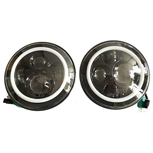 Sxma Emark 17,8 cm rotondo LED fari con Amber DRL Halo f