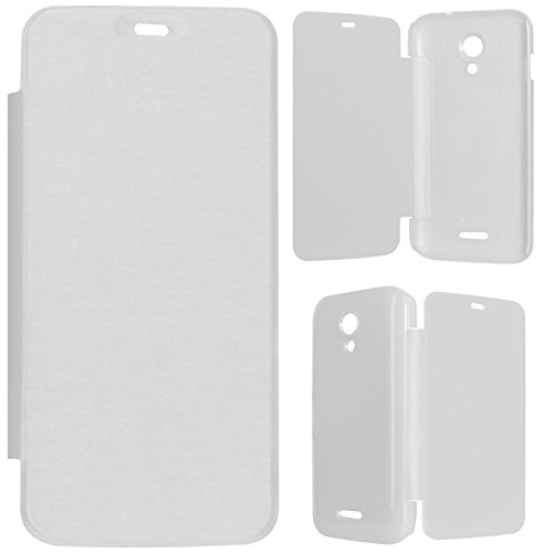 DMG Durable Protective PU Leather Flip Book Cover Case for Micromax Canvas A114 2.2 - White  available at amazon for Rs.199