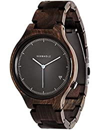 Kerbholz Herren-Armbanduhr Lamprecht Analog Quarz Holz 0705184599516