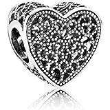 Pandora 791811 Charm Herz Silber