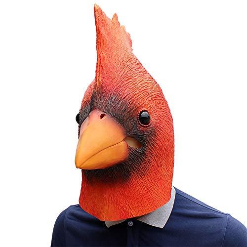 Kardinal Erwachsene Für Kostüm - XIAOMAN Kardinal Kopf Maske Realistische Latex Gesichtsmaske Halloween Cosplay Kostüm Weihnachtsfeier Rollenspiel Spielzeug ( Color : Red , Size : One Size )