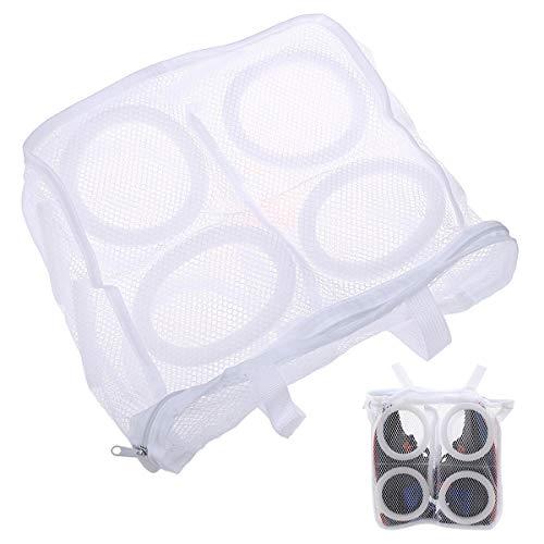 EQLEF® 2 Stücke der kreativen Wäsche-Schuh-Netz-Beutel u. Der Schuh-waschende Beutel  aufrechtzuerhalten.