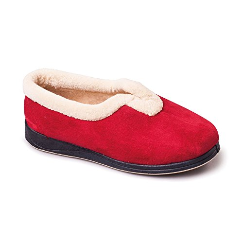 scarpe da donna Padders 'Carmen' | Scarpe con suole in velcro e memoria di forma | Extra grande larghezza di EE | 30 millimetri tallone | calzascarpe libero Rosso