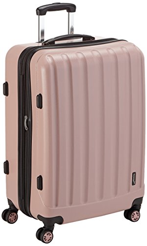 Packenger Koffer - Velvet (XL), Mauve, 4 Doppelrollen, 112 Liter, 72cm, Koffer mit TSA-Schloss, Erweiterbarer Hartschalenkoffer (ABS) robuster Trolley Reisekoffer