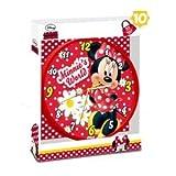 Disney Minnie Maus Wanduhr Kinder Uhr Kinderuhr für Kinderzimmer Dekoration Wanddeko