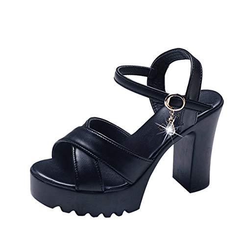 Sandali Estivi Donna Eleganti ❤ Elegante Sexy Moda Zeppe On Tacco Peep Toe Scarpe per Viaggio Spiaggia di Sabbia Party Shopping