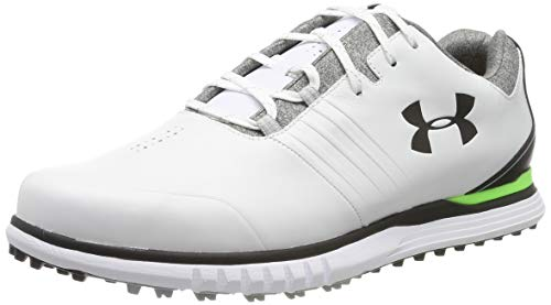 Under armour showdown sl e, scarpe da golf uomo, bianco (white/black/black 100), 44 eu