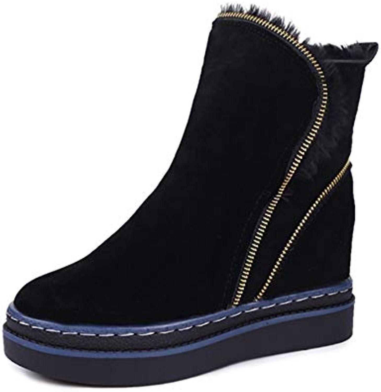 YSFU stivali Scarponi da Neve da Donna Warm Warm Warm Solid Coloree Comfy Zipper scarpe Ladies avvioies avvioie Casual Autunno...   Uscita    Maschio/Ragazze Scarpa  b56bde