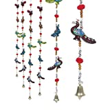 #6: Collectible India Set of 2 Decorative Peacock Modern Wall Door Hanging Home Decor Arts