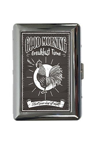 Zigarettenetui Box Vogel Guten Morgen Hahn Bedruckt Morgen Hahn