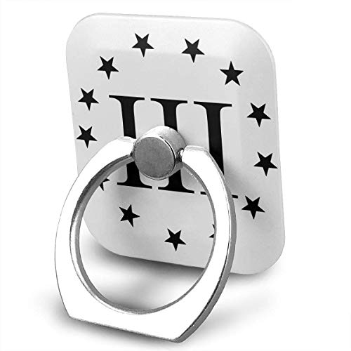 beautiful& Military Art 3 Percenter Logo Cell Phone Ring Holder, Finger Grip Stand Holder,360 Degrees Rotation,Compatible with iPhone,Samsung,Phone Case,etc Flash Bracket Grip