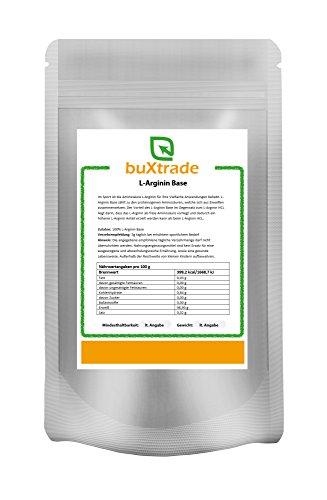 2 x 500 g L-Arginin Base Pulver – L Arginin Aminosäure Fitness 1 kg