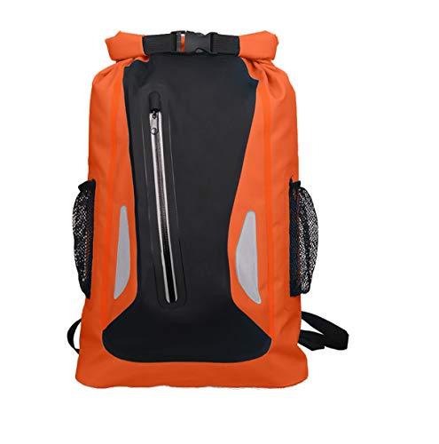Tclothing Männer Tagesrucksack Ultraleicht Dry Bag 25L Sportrucksack Outdoor Groß Reiserucksack Schwimmen Wanderrucksack Damen Rucksack Wasserdicht Trekkingrucksack (Orange)