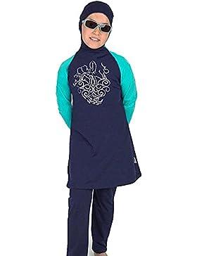 YEESAM® Muslimische Bademode Kinder Top-Qualität Modest Badeanzug für islamische Junge Mädchen