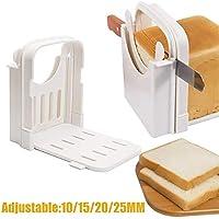 MZY1188 Rebanadora de Pan Plegable Ajustable - Cortador de Pan Rebanador de Pan Tostado Rebanador de Pan Tabla de Cortar Herramienta de Cocina